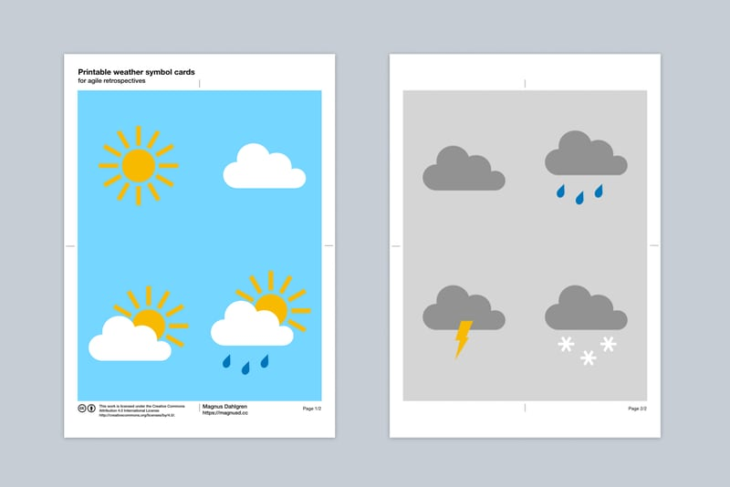 Preview of weather symbol cards